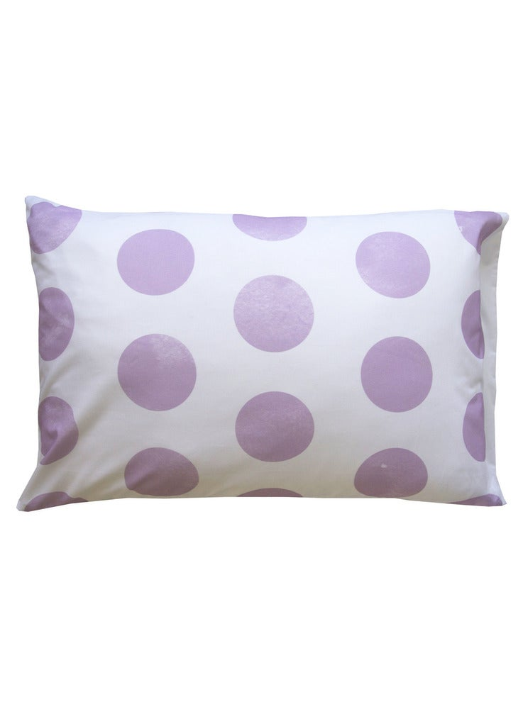 Image of LILAC POLKA DOT PILLOWCASE