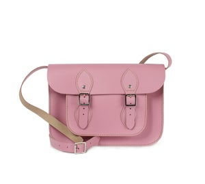 Image of Small Leather Satchel (Vintage Pink) **On Sale**
