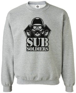 Image of Sub Soldiers Grey/Black Mens Sweater