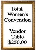 Image of Vendor Table - Total Women's Convention