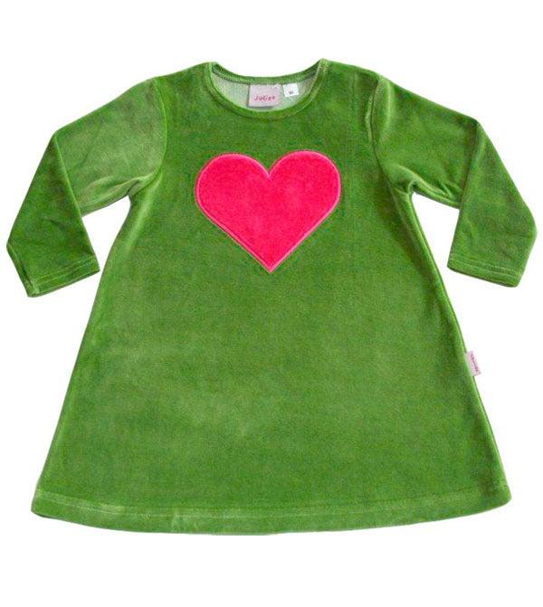 Image of Juliet Velour Dress - Olive Green