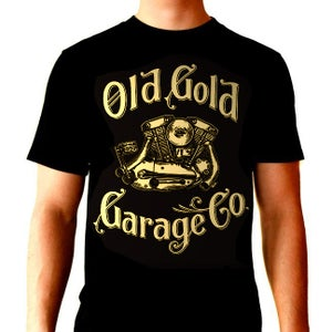 """Image of Old Gold """"Ironhead"""" T-shirt"""