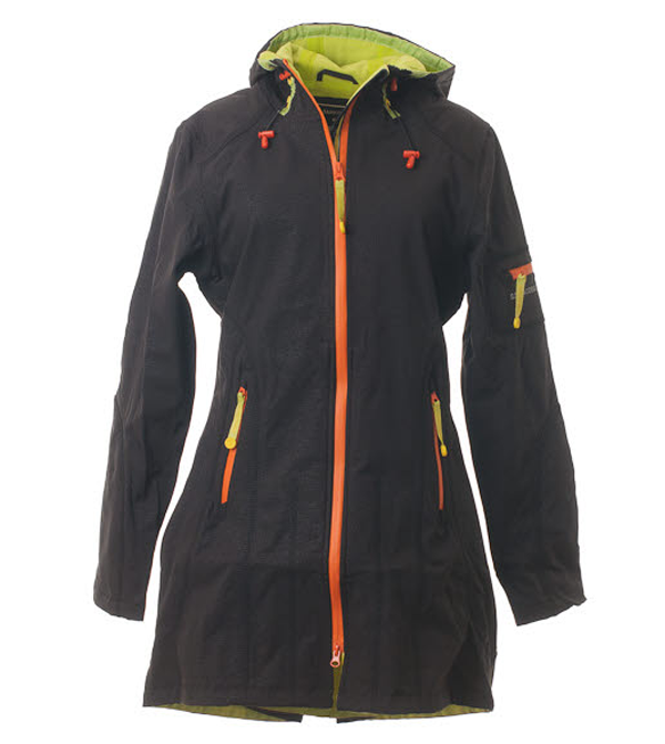 Image of Ilse Jacobsen 3/4 Length Raincoat (Black/Colors)