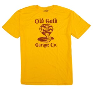 """Image of NEW! Old Gold """"Cobra King"""" T-shirt /Red on Gold"""