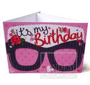 Image of Original Card Glasses-Birthday Girl