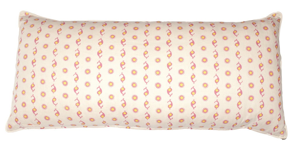 Image of Casablanca Natural Pink/Yellow Single Sided Bolster