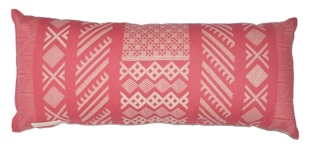 """Image of Tangier Peony Single Sided Bolster 14"""" x 34"""""""