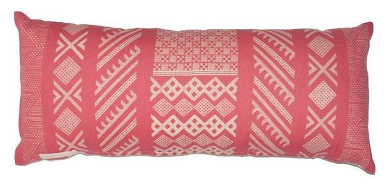 "Image of Tangier Peony Single Sided Bolster 14"" x 34"""