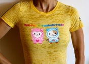 Image of Kids & Adult SPACE HAMSTER T in Burn Out Yellow with Gray Stripes