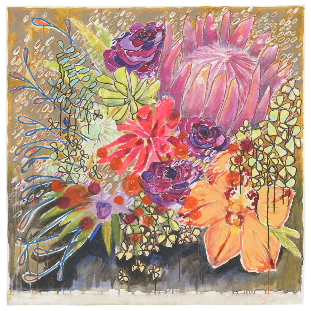 """Image of NEW PRICE! flowers for janie 40""""x40"""""""