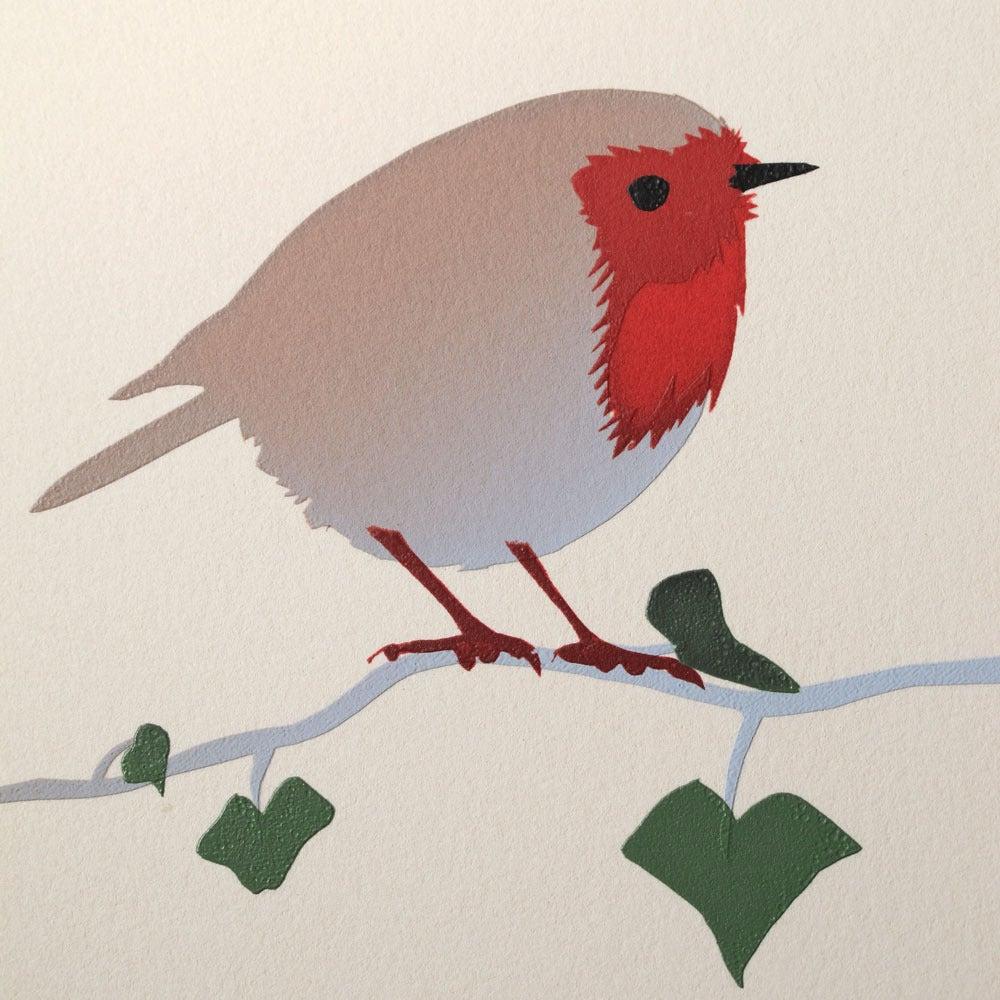 Image of Robin screen print