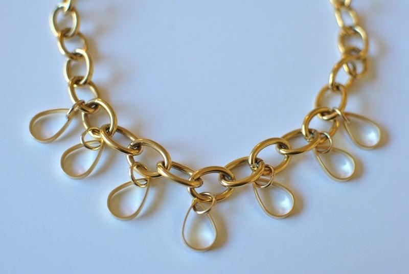 Image of Golden Teardrop Necklace