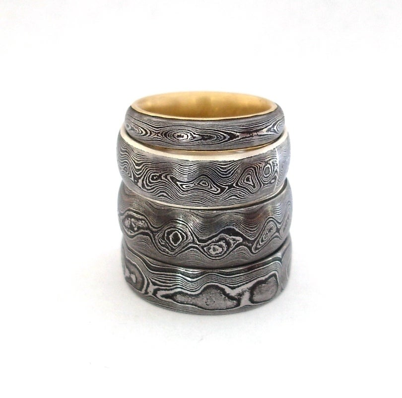 Image of Damascus Wedding Band