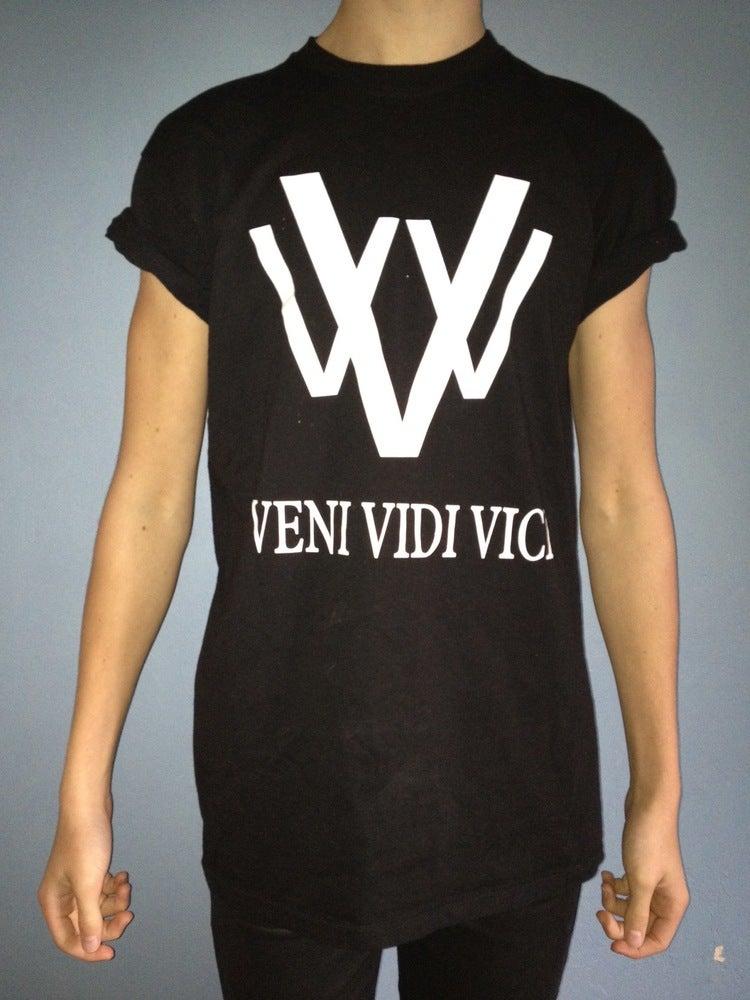 Image of vVv black logo tee