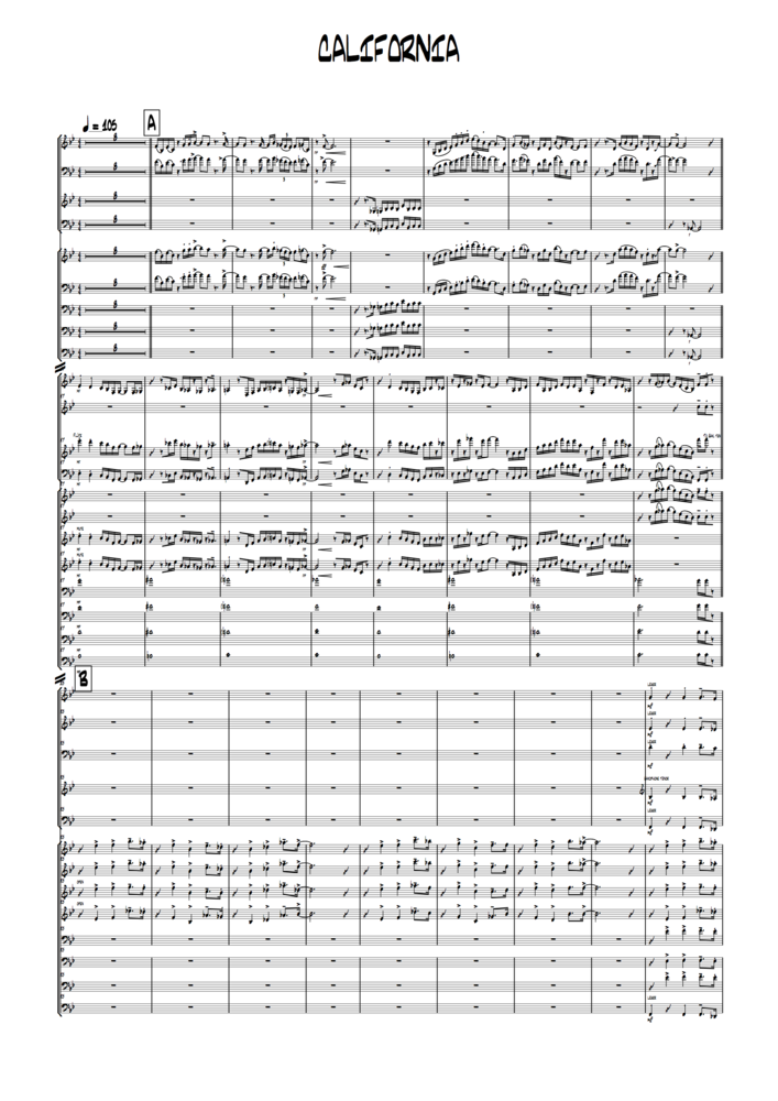 Image of California (full score and parts)
