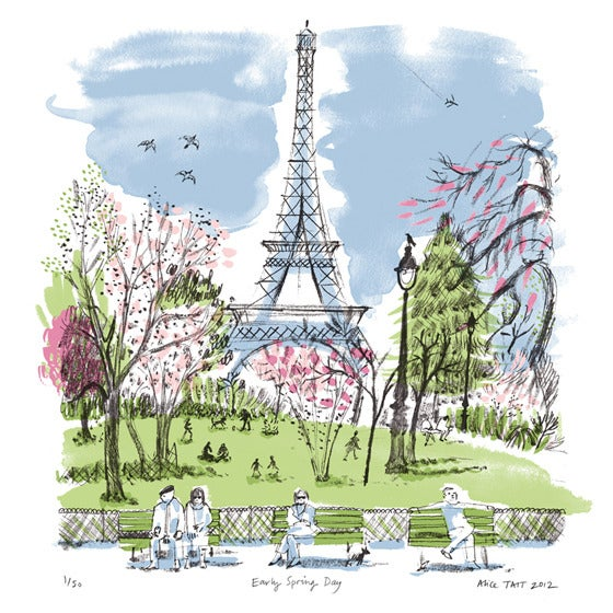Alice Tait 'Early Spring Day' Screen Print - Alice Tait Shop