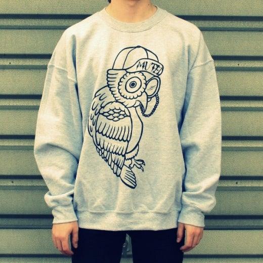 Image of Owl Sweater - Grey