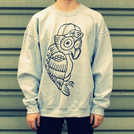Image of Owl Sweater - Grey