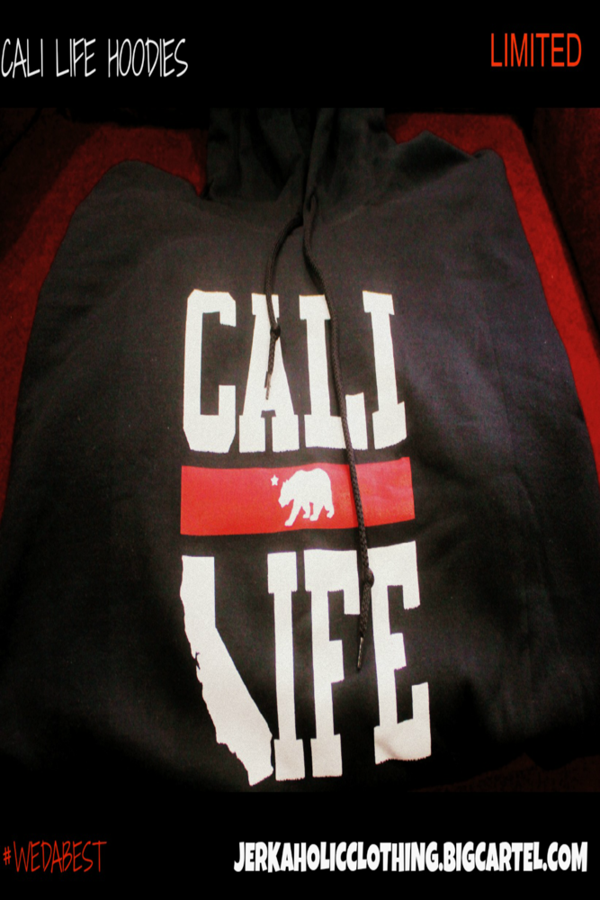 Image of #CALILIFE (BLACK HOODIES )