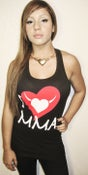 Image of I LOVE MMA Ladies Racerback Tank w/Red Logo