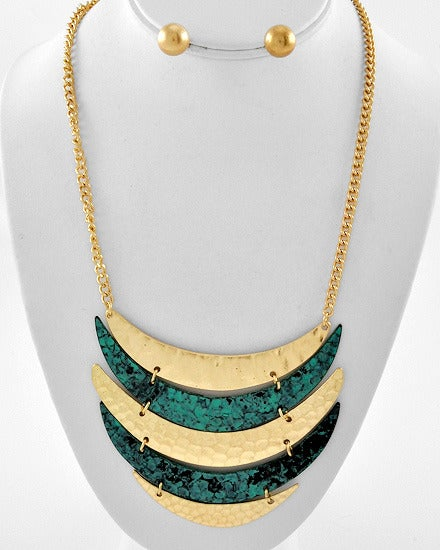 Image of Queen of The Night Necklace w/ Stud Earrings To Match