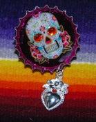 Image of Day of the Dead Skull Brooch 4
