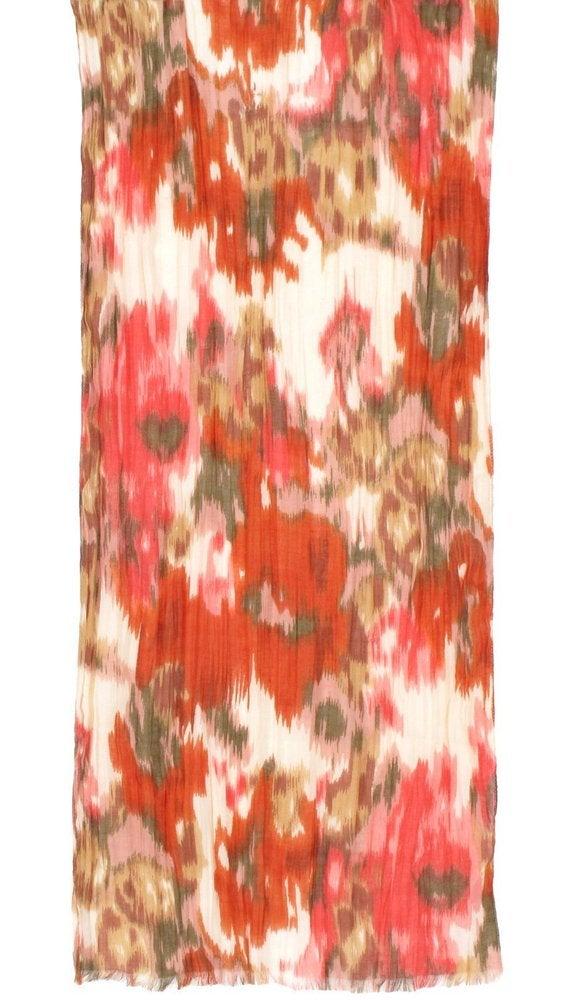 Image of Blurred Flower Printed Scarf
