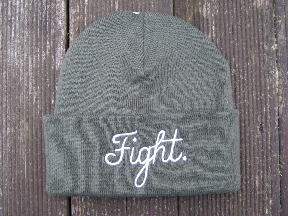 Image of Fight. Beanie - Olive