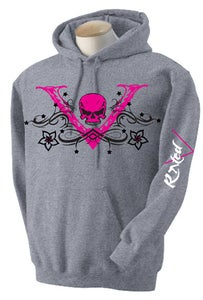 "Image of Ladies Pink ""V-Unit"" Hoodie"
