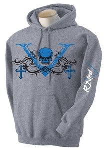 """Image of Men's Blue """"V-Unit""""  Hoodie"""