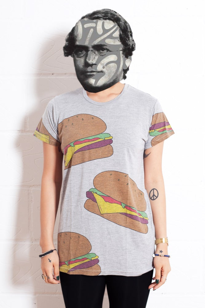 Image of Burger T-shirt Grey