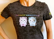 Image of Kids & Adult SPACE HAMSTER T in Burn Out Charcoal with Yellow Stripes