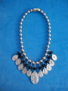 Image of BEADED BLESSING necklace  BLACK