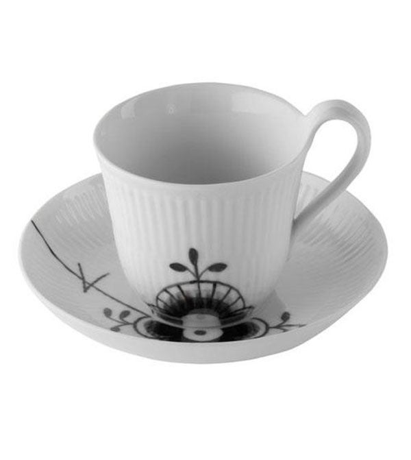 Image of Fluted Mega -- High Handle Cup/Saucer