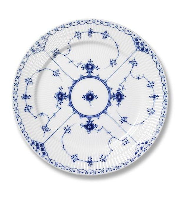 Image of Blue Fluted Half Lace -- Salad/Dessert Plate