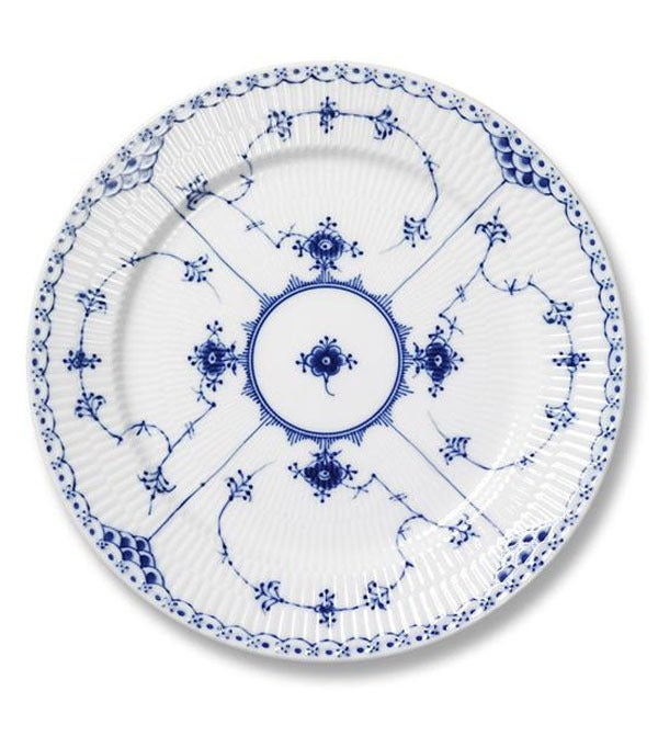 Image of Blue Fluted Half Lace -- Dinner Plate