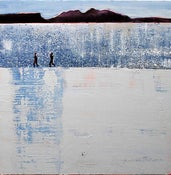 Image of Silvery Seas Rhum and Eigg from Camusdarach Scotland