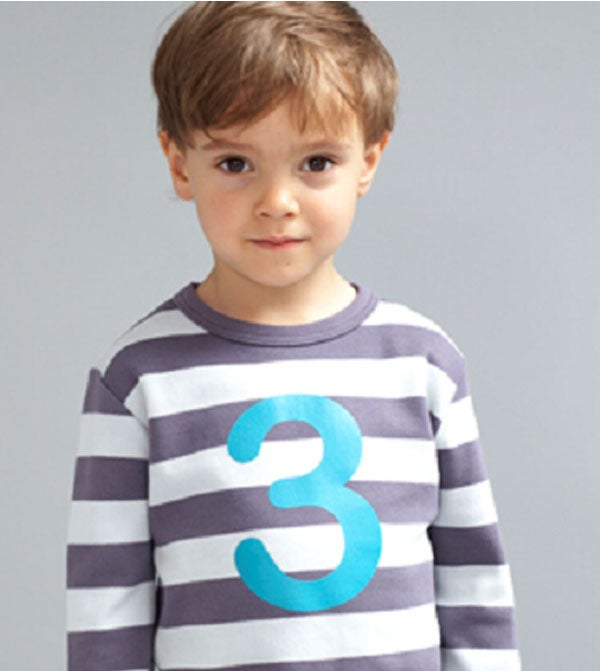 Image of Birthday Tee (No. 1-5), Charcoal & Dove Gray