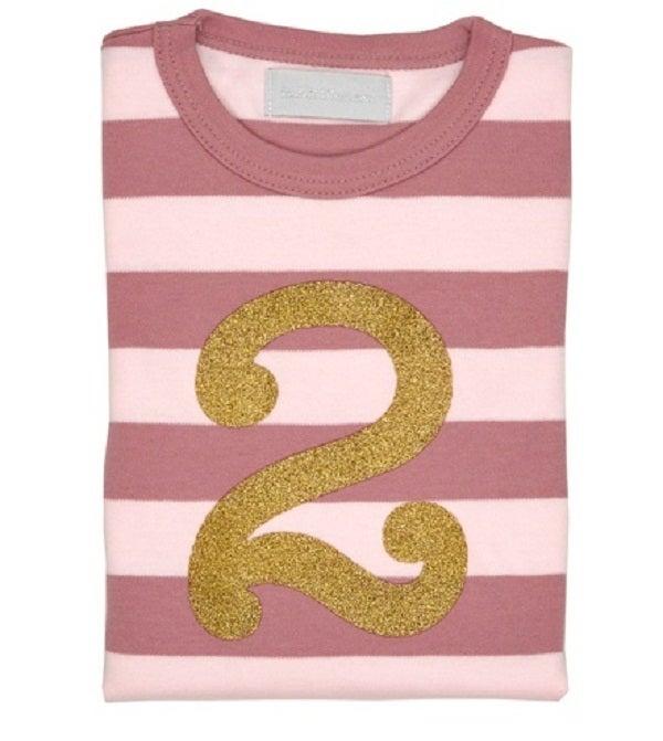 Image of Birthday Tee (No. 1-5), Vintage & Powder Pink
