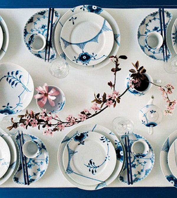 Image of Blue Fluted Mega -- Sugar Bowl