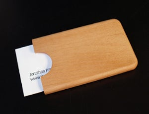 Image of Beech business card holder