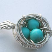 Image of Bluebird Nest Necklace