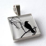 Image of Photo Pendant, Lone Crow