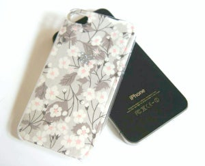 Image of Coque Iphone et 2 recharges base ★ Liberty & Strass ★ Mitsi