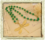 "Jewelry: ""Green Rosary Dragonfly"""