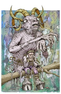 Image of 'The Goat Man' print