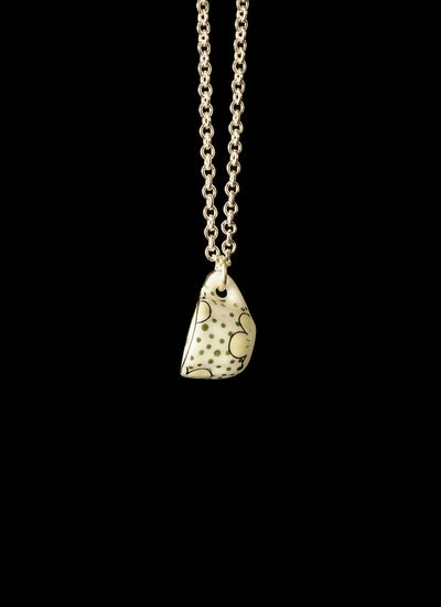 Image of silver spotty cup necklace
