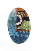 Image of Oval Multi-colored Abstract Ring