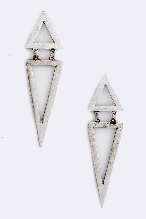 Image of Double Triangle Earrrings