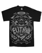 """Image of """"WITH LIONS' MIGHT"""" TEE [BLACK]"""